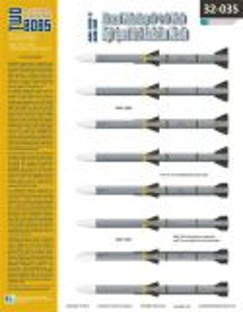 TB32035 AIM-120B/C AMRAAM und AGM-88C HARM Beschriftungen