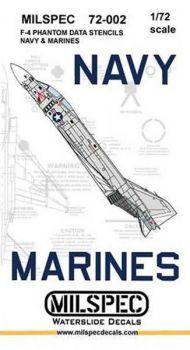 CMS7202 F-4 Phantom II Stencils U.S. Navy/U.S. Marines (High Visibility)