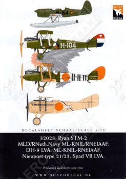 DD32028 DH.9, Nieuport, Spad & Ryan