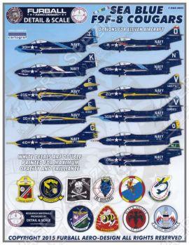 FD&S4803 F9F-8 Cougar U.S. Navy Sea Blue