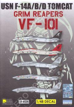 DXM48021 F-14A/B/D Tomcat VF-101 Grim Reapers, U.S. Navy