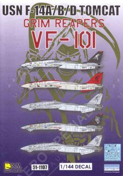 DXM14007 F-14A/B/D Tomcat VF-101 Grim Reapers, U.S. Navy