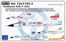 DRD7205 F-102A Delta Dagger nordwestliche Air National Guard Einheiten