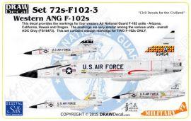 DRD7206 F-102A Delta Dagger westliche Air National Guard Einheiten