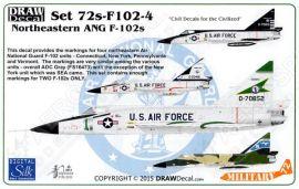 DRD7207 F-102A Delta Dagger nordöstliche Air National Guard Einheiten