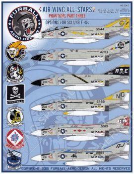 FBD48045 F-4J Phantom II CAG & CO Jets U.S. Navy