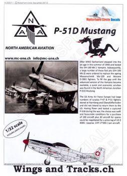 MC32011 P-51D Mustang Schweizer Luftwaffe
