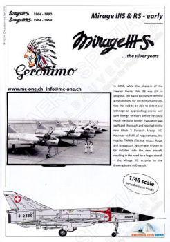 MC48014 Mirage IIIS & Mirage IIIRS Schweizer Luftwaffe (früh)