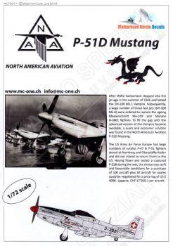 MC72011 P-51D Mustang Swiss Air Force