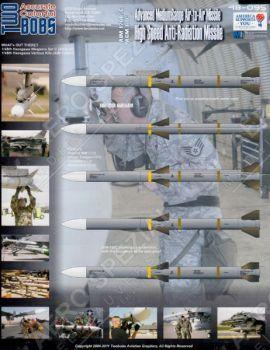 TB48095 AIM-120B/C & AGM-88C Raketenbeschriftungen