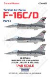 CD48007 F-16 Fighting Falcon Turkish Air Force Part 2