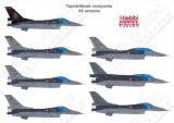 BAD7214 F-16C/D Block 40 Fighting Falcon Turkish Air Force including Solo Turk demo jet