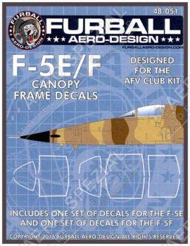FBD48051 F-5E/F Tiger II Cockpitrahmendichtungen