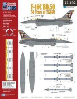 TB72102 F-16C Block 50 Fighting Falcon 50 Years Wild Weasel