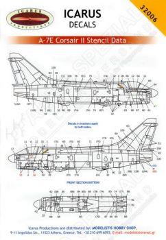 ID32006 A-7 Corsair II Stencils