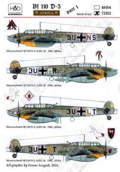 HU72152 Bf 110 D-3 Luftwaffe in Afrika