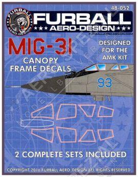 FBD48052 MiG-31 Foxhound Canopy Seals