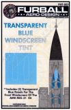 FWT4803 MiG-31 Foxhound Blue Transparent Film for Windscreen
