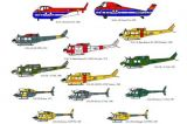 BED48002 H-19/H-34/CH-136 Kiowa/CH-139 JetRanger/CH-118 Iroquois