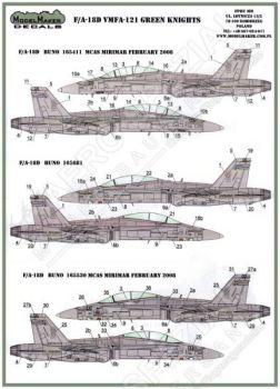 MOD48052 F/A-18D Hornet VMFA(AW)-121 Green Knights