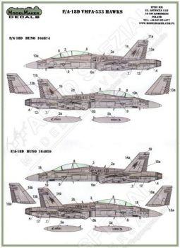 MOD48053 F/A-18D Hornet VMFA(AW)-533 Hawks