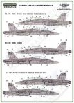 MOD72052 F/A-18D Hornet VMFA(AW)-121 Green Knights