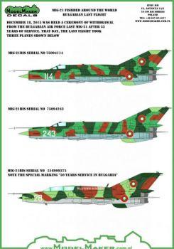 MOD72071 MiG-21 Fishbed/Mongol bulgarische Luftwaffe