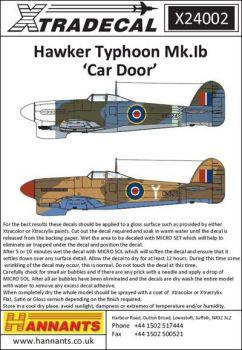 XD24002 Typhoon Mk.Ib Car Door