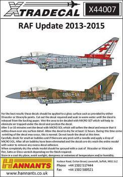 XD44007 RAF Update 2013-2015