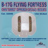 MD32045 B-17G Flying Fortress Zippered Canvas Inserts for Chin Turret