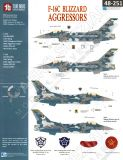 TB48251 F-16C Block 32 Fighting Falcon Blizzard Aggressors