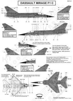 BD72031 Mirage F1C französische Luftwaffe