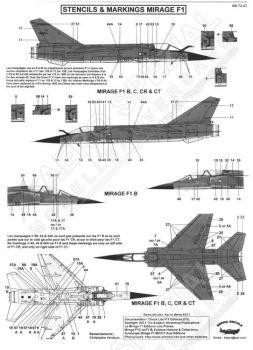 BD72047 Mirage F1B/C/CR/CT Stencils