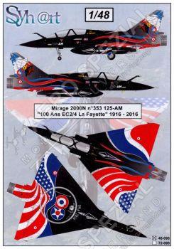 SY48098 Mirage 2000N Anniversary Finish 100 Years EC 2/4 La Fayette