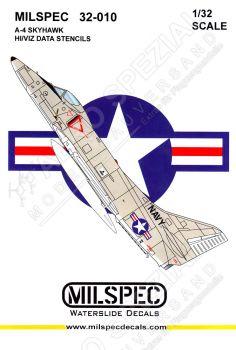 CMS3210 A-4 Skyhawk Stencils (High Visibility)