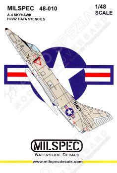 CMS4810 A-4 Skyhawk Stencils (High Visibility)