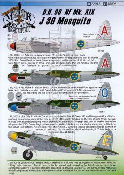 MRD4808 J 30 (Mosquito NF.XIX) schwedische Luftwaffe