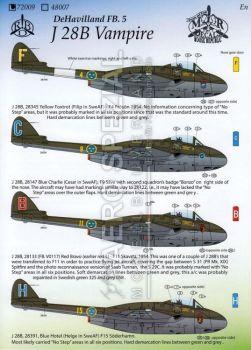MRD7209 J 28B (Vampire FB.5) schwedische Luftwaffe