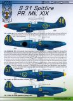 MRD7211 S 31 (Spitfire PR.XIX) schwedische Luftwaffe