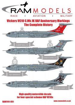 RAM144001 VC10 C.1K RAF Jubiläumsanstriche