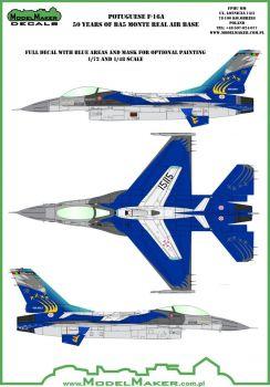 MOD72070 F-16A Fighting Falcon portugiesische Luftwaffe Jubiläumsanstrich