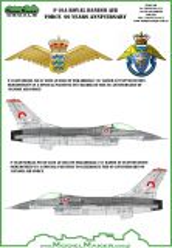MOD72092 F-16AM Fighting Falcon Anniversary Finish Royal Danish Air Force
