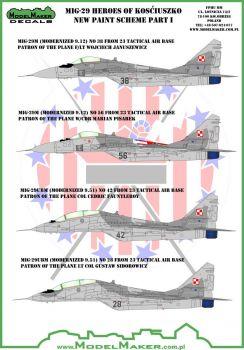 MOD72087 MiG-29 Fulcrum Heroes of Kosciuszko