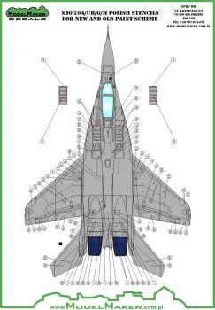 MOD72091 MiG-29A/UB/G/M Fulcrum polnische Stencils
