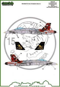 MOD72093 EF-18M Hornet Anniversay Finish 25 Years Ala 15