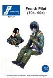 PJ321121 Jet Pilot French Air Force 1970s to 1990s, seated