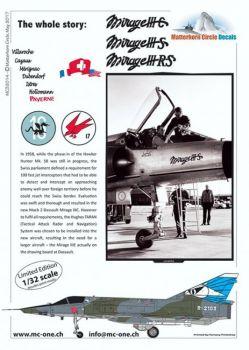 MC32014 Mirage IIIC/S/RS Swiss Air Force