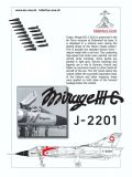 MC72001 Mirage IIIC Schweizer Luftwaffe