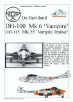 MC72006 D.H.100 & D.H.115 Vampire Schweizer Luftwaffe