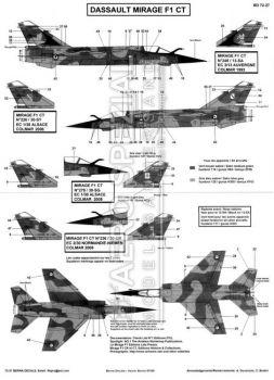 BD72027 Mirage F1CT französische Luftwaffe